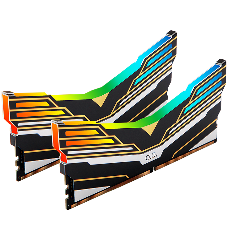 OLOy WarHawk Black RGB SYNC DDR4 CL16 16GB (8GB*2) 3200MHz (PC4-25600)