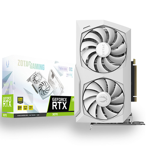 ZOTAC GAMING 지포스 RTX 3070 Twin Edge OC White 8GB GDDR6 256bit